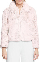 Vince Camuto Faux-Mink Fur Collared Jacket