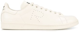 Adidas By Raf Simons Cream Leather Stan Smith Trainers