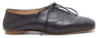 Gabriela Hearst Maya Square Toe Leather Oxford Shoes - Womens - Black