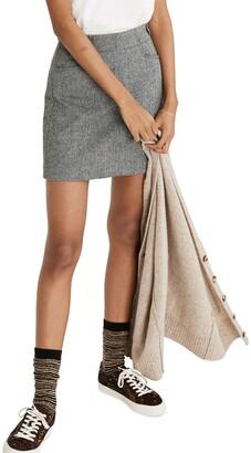 Madewell Herringbone Assembly A-Line Miniskirt