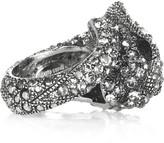 Swarovski crystal panther ring