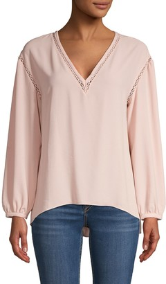 1 STATE High-Low V-Neck Top