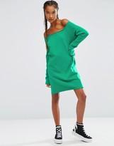 Asos Off Shoulder Sweat Dress
