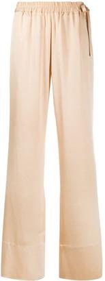 Acne Studios Satin Straight-Leg Trousers
