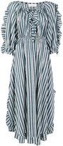Sonia Rykiel striped flared dress - women - Spandex/Elastane/Viscose - 38