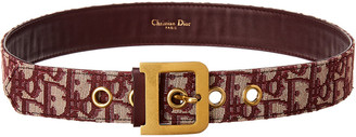 Christian Dior Diorquake Oblique Canvas & Leather Belt