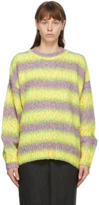 we11done Yellow and Purple Gradation Stripe Knit Sweater
