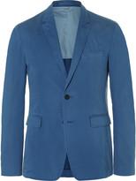 Burberry Blue Slim-Fit Stretch-Cotton Blazer