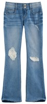 Mudd Girls Plus Size Double Button Crochet Lace Skinny Boot Jeans