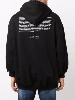 Throwback. 1975 Graphic-Print Cotton Hoodie