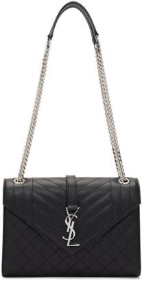 Saint Laurent Black Medium Monogramme Envelope Bag