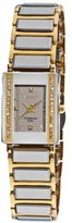 Akribos XXIV Women's AK522YG Ceramic Rectangular Quartz Bracelet Watch