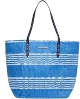 Dorothy Perkins Womens Blue Stripe Beach Bag- Blue