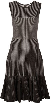Oscar de la Renta Metallic Ribbed Dress
