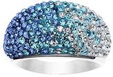 Blue & White Gradient Pavé-Set Ring With Swarovski® Crystals