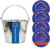 Boise State Broncos Metal Drink Bucket & Paper Coaster 5-piece Set