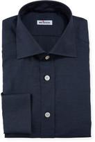 Kiton Men's Solid Cotton Dress Shirt