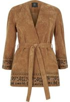 River Island Womens Light brown suede kimono