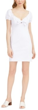 Bar III Off-The-Shoulder Tie-Front Mini Dress, Created for Macy's