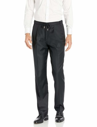Buttoned Down Amazon Brand Men's Classic-Fit Italian Wool Drawcord Elastic Waist Dress Pant