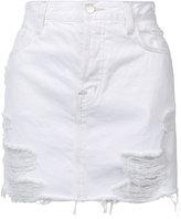 J Brand short denim skirt - women - Cotton - 26