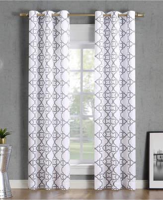 "Lichtenberg No. 918 Barkley Trellis Semi-Sheer Grommet Curtain Panel, 40"" W x 63"" L"