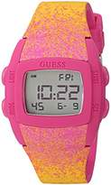 GUESS Women's Quartz Rubber and Silicone Casual Watch, Color:Pink (Model: U0943L2)
