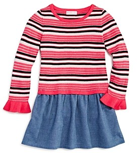 Design History Girls' Striped Chambray Dress - Little Kid