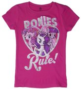 My Little Pony Ponies Rule Girls Youth T-Shirt - Youth