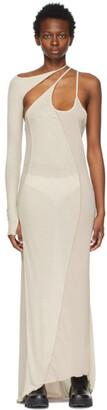 Hyein Seo SSENSE Exclusive Beige Single-Sleeve Long Dress