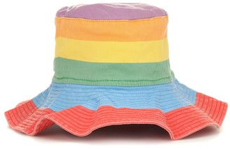 Stella McCartney Striped cotton bucket hat