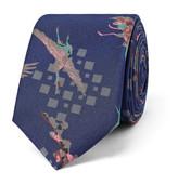 Lanvin 5.5cm Bird-Print Silk Tie