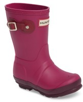 Hunter Toddler 'Original Contrast Sole' Waterproof Rain Boot