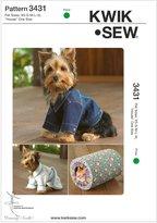 KWIK-SEW PATTERNS Pet Robe, jacket, House - Pet XS - S - M - L - XL - House One Si