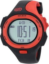 Soleus Men's SR008010 P.R. Digtial Dial with Black and Red Polyurethane Strap Watch