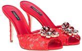 Dolce & Gabbana Lace Embellished Mules
