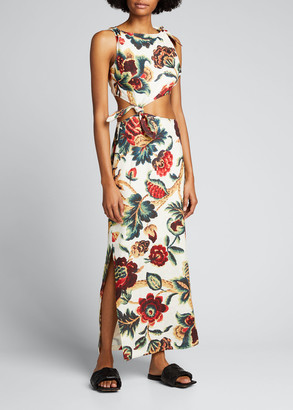 SIR the Label Ambroise Floral Knot Dress