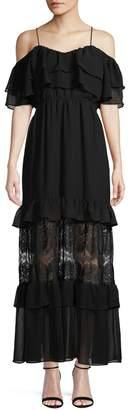 BB Dakota Ruffled Chiffon Maxi Dress
