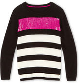 Sally Miller SALLY M Sally M Blingy Striped Sweater - Girls 6-16