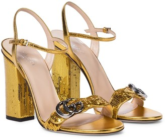 Gucci Marmont sequined leather sandals