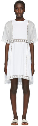 See by Chloe White Lace Panelled Dress