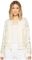 Nicole Miller Mola Burnout Bomber Jacket Women's Coat