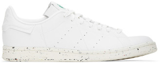 adidas White Vegan Leather Stan Smith Sneakers