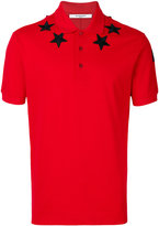 Givenchy star patch polo shirt - men - Cotton/Polyester - XS