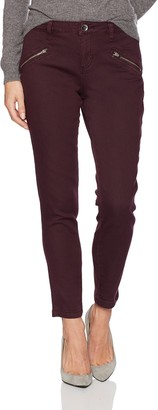 Jag Jeans Women's Ryan Skinny Jean in Color Knit Denim - Plum Noir