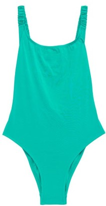 Fisch Select High-leg Swimsuit - Light Blue
