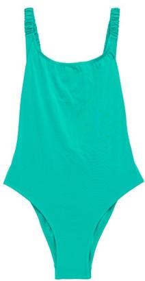 Fisch Select High-leg Swimsuit - Womens - Light Blue
