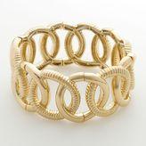 Dana Buchman gold tone multihoop stretch bracelet