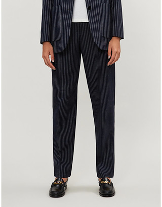 Claudie Pierlot Palae striped woven trousers