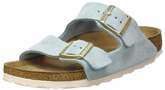 Birkenstock Sandales Arizona Sfb Cuir Suede Light Blue Womens Sandal